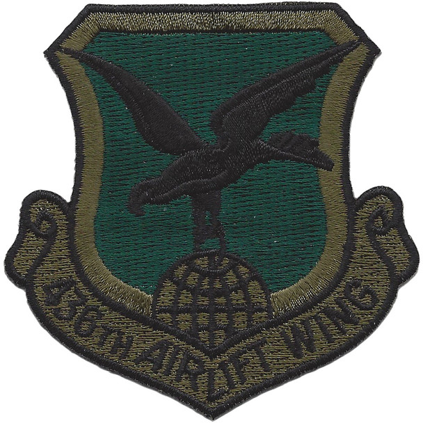436th Airlift Wing Subdued Patch