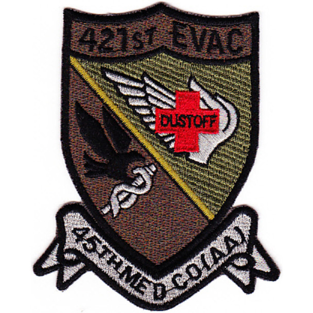 421st Medical Company 159th Aviation Regiment Patch OD