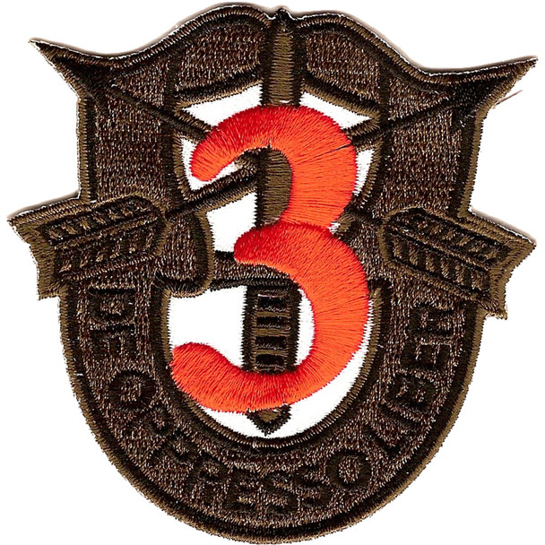 3rd Special Forces Group Crest OD Green Patch
