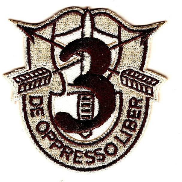 3rd Special Forces Group Crest Desert Patch