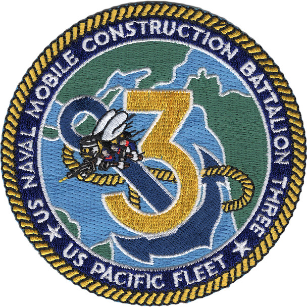 3rd Mobile Construction Battalion Patch