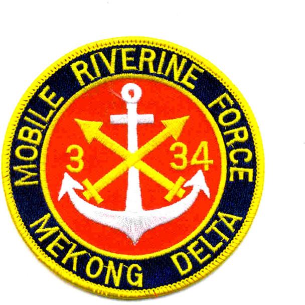 3rd Battalion 34th Field Artillery Patch Mobile Riverine Force Mekong Delta