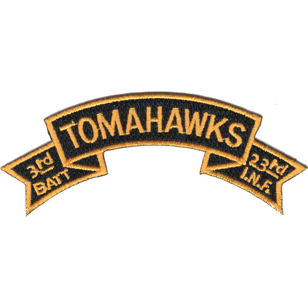 3rd Battalion 23rd Infantry Regiment Tomahawks Scroll Patch