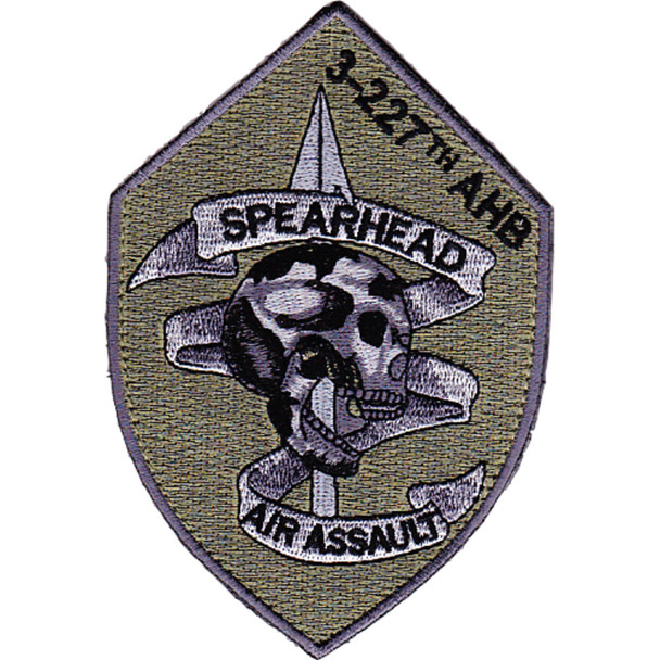 3rd Battalion 227th Aviation Air Assault Regiment OD Patch Hook And Loop