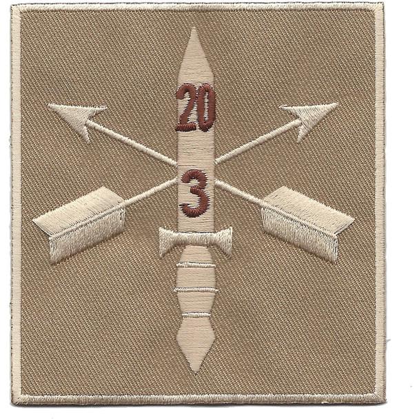 3rd Battalion 20th Special Forces Group Combat Helmet Desert Patch