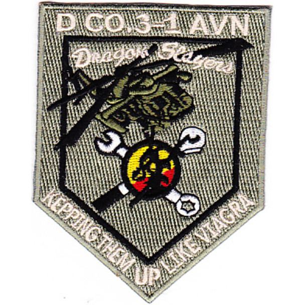 3rd Battalion 1st Aviation Regiment D Company Patch