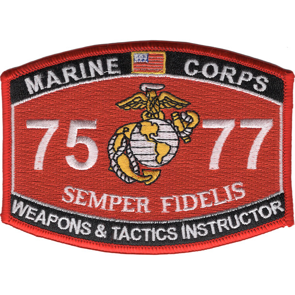 7577 Weapons & Tactics Instructor MOS Patch