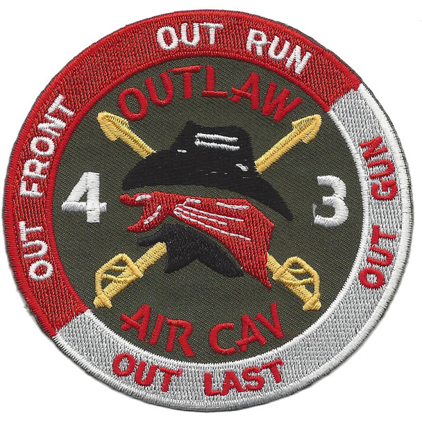 4th Battalion 3rd Aviation Cavalry Regiment Patch Hook And Loop