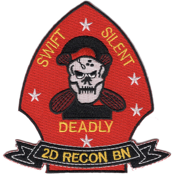2nd Reconnaissance Battalion Patch Swift Silent Deadly