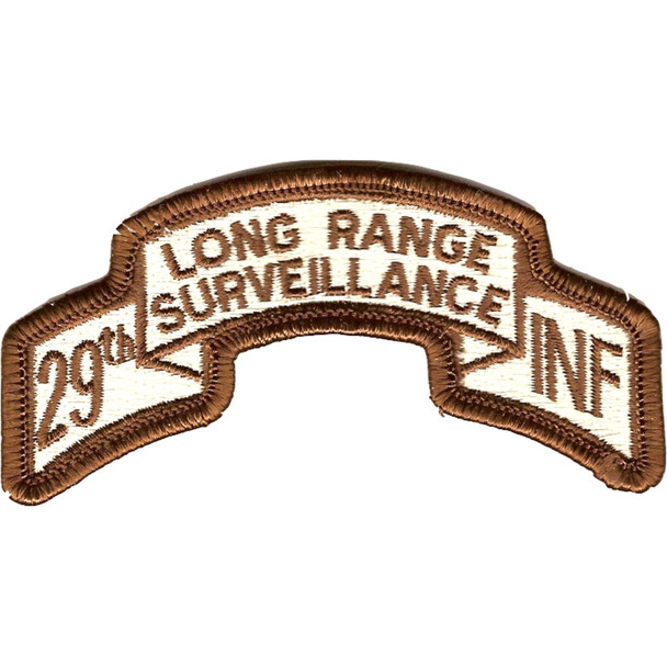 29th Infantry Division Long Range Scroll Desert Patch