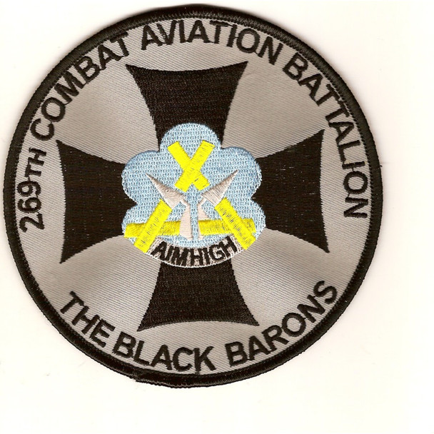 269th Combat Aviation Battalion Patch - The Black Barons