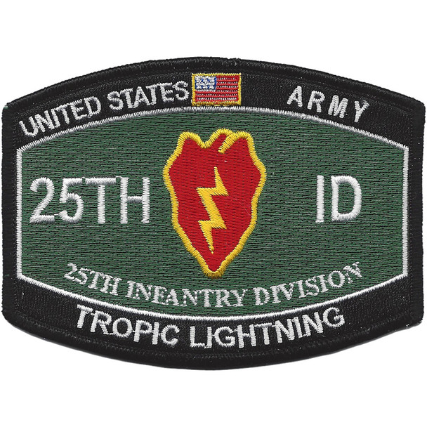 25th Infantry Division Military Occupational Specialty MOS Patch Tropic Lightning