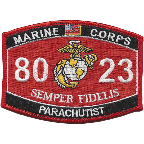 8023 Parachutist MOS Patch