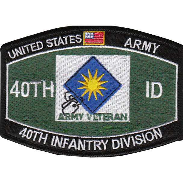 40th Infantry Division Military Occupational Specialty MOS Patch Army Veteran