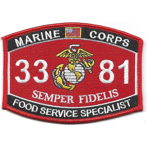 3381 Food Service Specialist MOS Patch