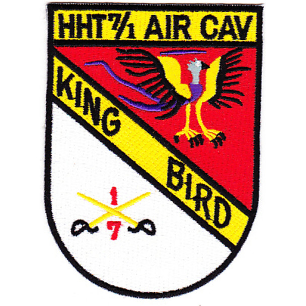 7th Squadron 1st Air Cavalry Aviation Regiment HHT Patch