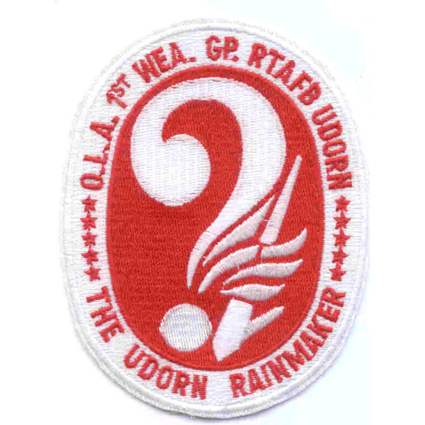 1st Weather Group Ubon Royal Thai Air Force Base Patch