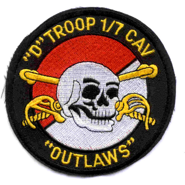 1st Squadron 7th Air Cavalry Aviation Attack Regiment Delta Troop Patch