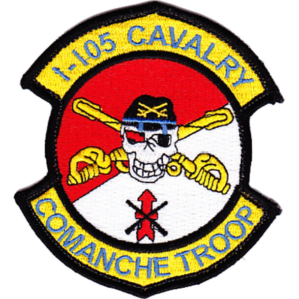 1st Squadron 105th Aviation Cavalry Regiment Color Patch Hook And Loop