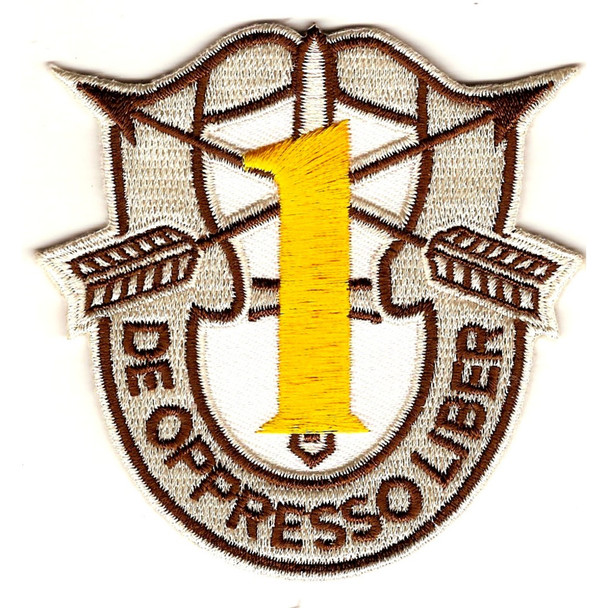 1st Special Forces Group Crest Desert Yellow 1 Patch