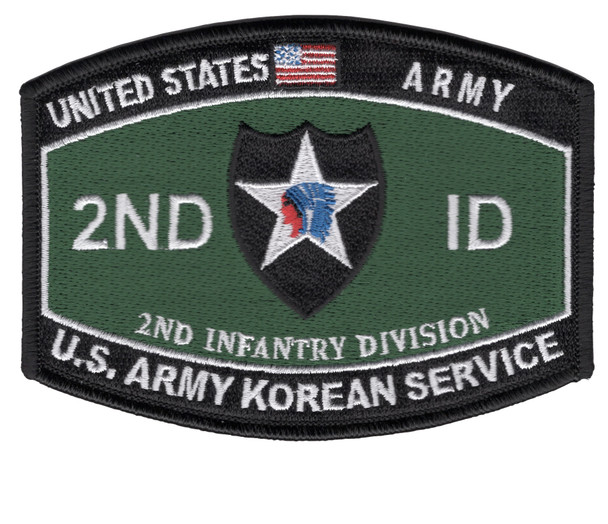 2nd Infantry Division Military Occupational Specialty MOS Patch U.S. Army Korean Service