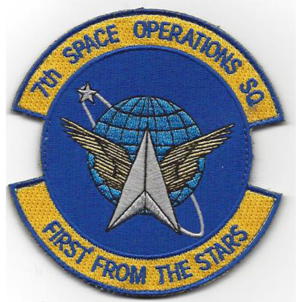 7th Space Operations Squadron Patch Hook And Loop