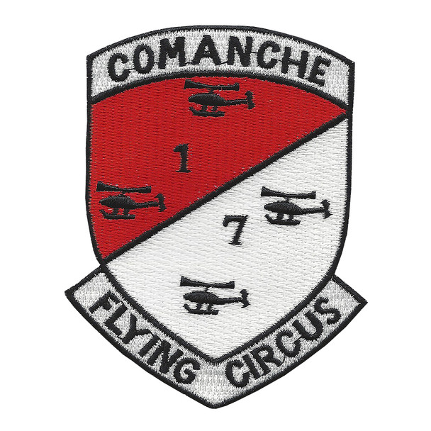 1st of the 7th Aviation Cavalry Regiment Camanche Patch