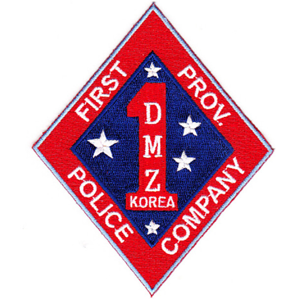 1st Marine Corps Division Patch First Prov. Police Company DMZ Korea