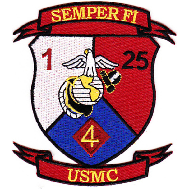 1st Battalion 25th Marines 4th Division Patch