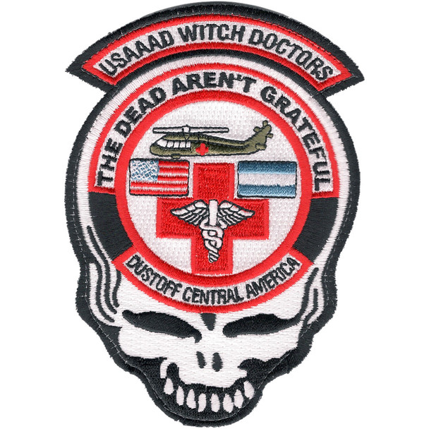 1st Battalion 228th Aviation Air Ambulance Large Skull Patch Hook And Loop