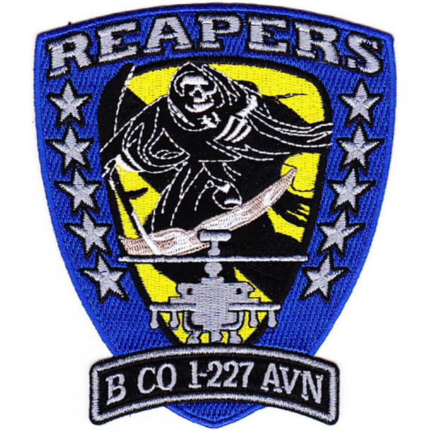 1st Battalion 227th Aviation Regiment Bravo Company Patch