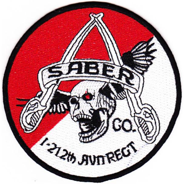 1st Battalion 212th Aviation Cavalry Regiment Saber Company Patch - Version C