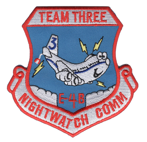 1st Airborne Command And Control Squadron Communications E-4-B Team Three Patch
