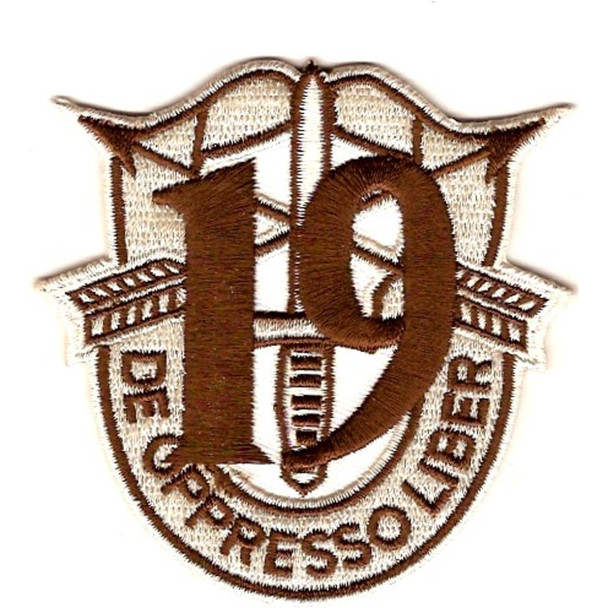 19th Special Forces Group Crest Desert Brown 19 Patch