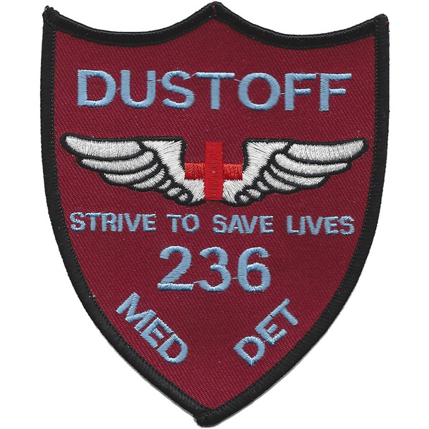 236th Aviation Medical Detachment Patch (Maroon)