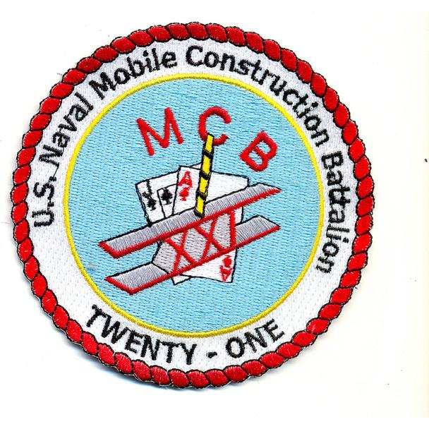 21st U.S. Naval Mobile Construction Battalion Patch