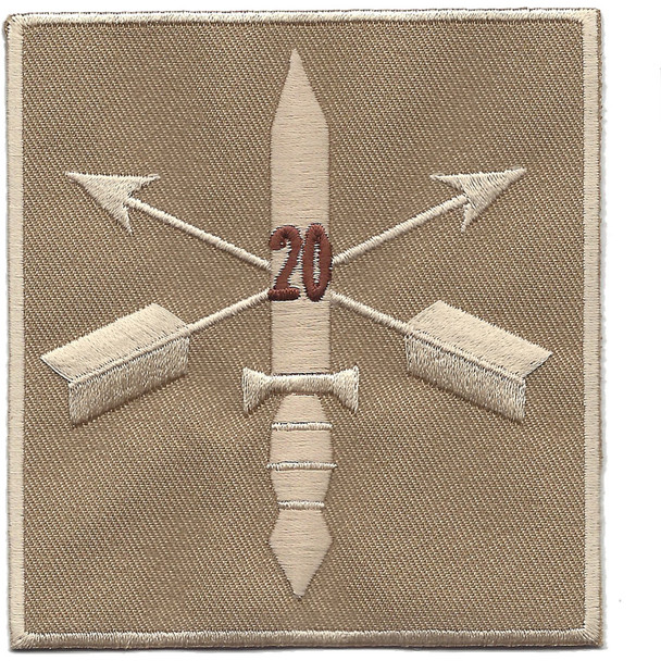 20th Special Forces Group Helmet Desert Patch
