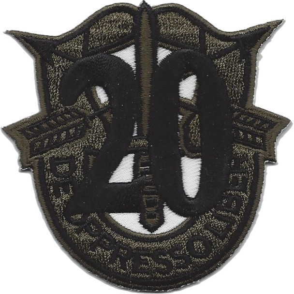 20th Special Forces Group Crest OD Green Black 20 Patch