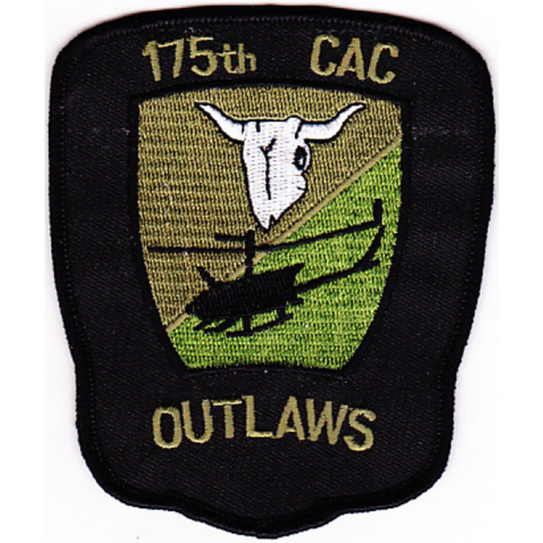175th Combat Aviation Company Patch Outlaws OD