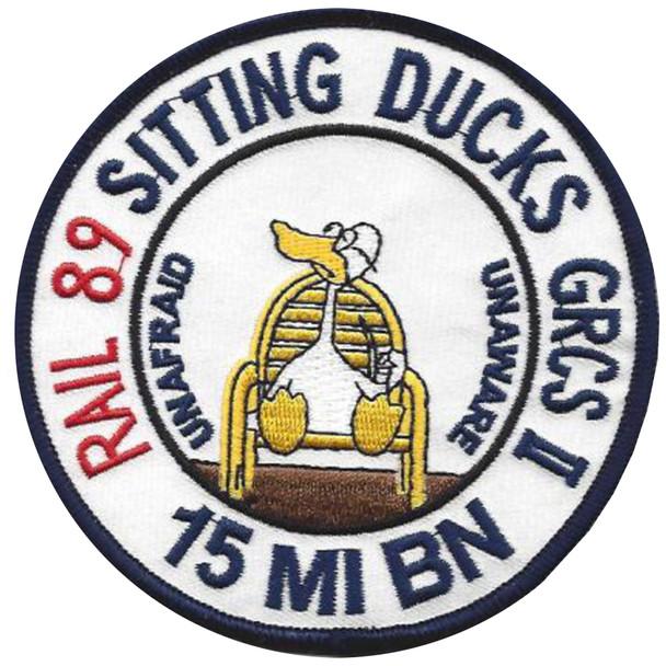 15th Military Intelligence Battalion Patch - Sitting Ducks