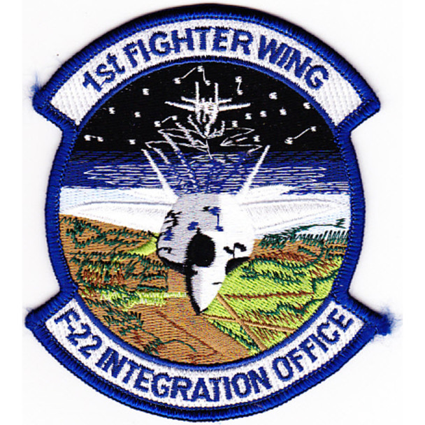 1st Fighter Wing Patch F-22 Integration Office
