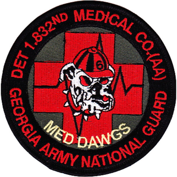 1st Detachment 832nd Aviation Medical Company Air Ambulance Patch
