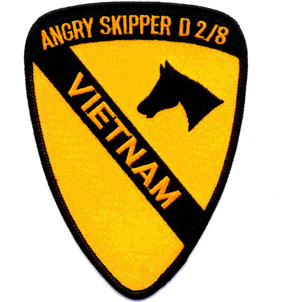 1st Cavalry Division Patch - Angry Skipper D 2/8 Vietnam
