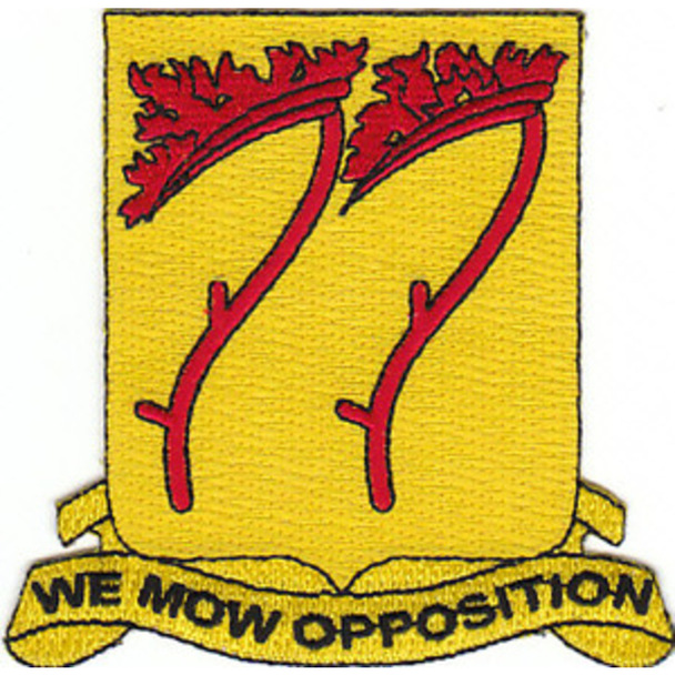 77th Field Artillery Battalion Patch - A Version