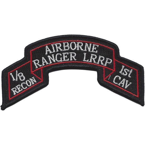 1st Battalion 8th Regiment 1st Cavalry Division Airborne Ranger LRRP Scroll Patch