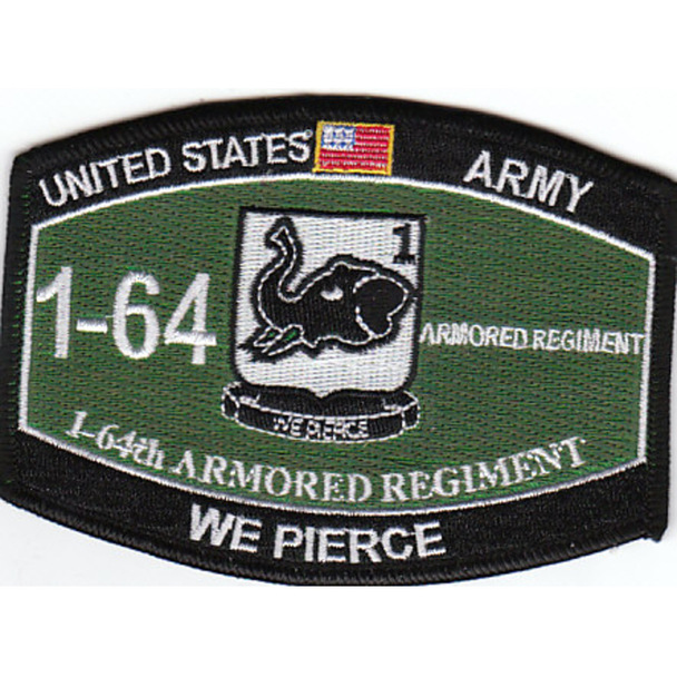 1st Battalion 64th Armored Regiment Military Occupational Specialty MOS Patch