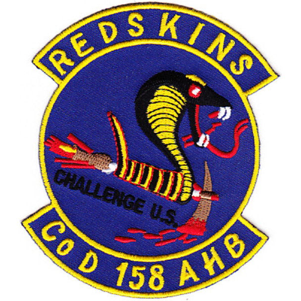 158th Assault Helicopter Battalion Company D Patch