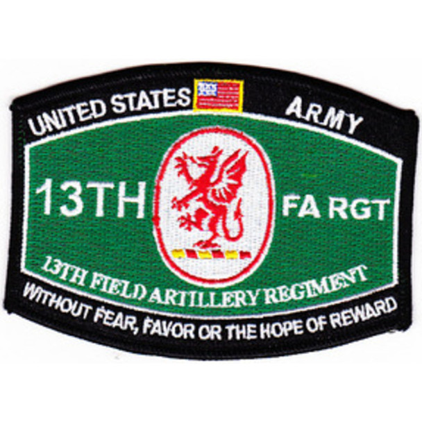 13th Field Artillery Regiment MOS Rating Patch