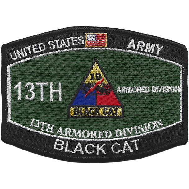 13Th Armored Division Military Occupational Specialty MOS Patch