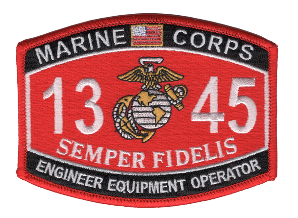 1345 Engineer Equipment Operator MOS Patch